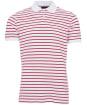 Men's Barbour Styhead Stripe Polo Shirt - White