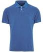 Washed Sports Polo - Marine Blue
