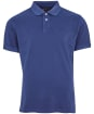Washed Sports Polo - Navy