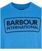 Men's Barbour International Large Logo Sweater - PURE BLUE