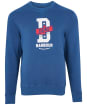 Men's Barbour International Famous Duke Sweater - Mid Blue