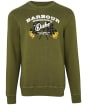 Men's Barbour International Famous Duke Sweater - Vintage Green