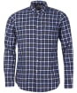Men's Barbour Linen Mix 3 Tailored Shirt - Inky Blue Check