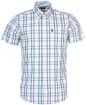 Men's Barbour Tattersall 14 S/S Tailored Shirt - Aqua