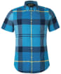 Men's Barbour Douglas S/S Shirt - Aqua