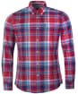 Men's Barbour Highland Check 37 Tailored Shirt - Red Check
