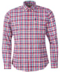 Men's Barbour Highland Check 38 Tailored Shirt - Red Check
