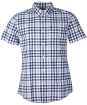 Men's Barbour Gingham 26 S/S Tailored Shirt - Navy Check