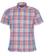 Men's Barbour Madras 7 S/S Summer Shirt - Pink Check