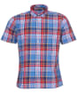 Men's Barbour Madras 9 S/S Tailored Shirt - Mid Blue Check