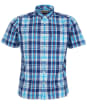 Men's Barbour Madras 9 S/S Tailored Shirt - Navy Check