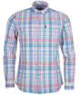 Men's Barbour Madras 8 Tailored Shirt - Sky Blue Check