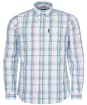 Men's Barbour Madras 10 Tailored Shirt - Ecru Check