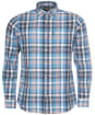 Men's Barbour Madras 10 Tailored Shirt - Mid Blue Check