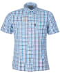 Men's Barbour Seersucker 7 S/S Summer Shirt - Inky Blue Check