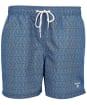 Men's Barbour Geo Print Swim Shorts - Powder Blue