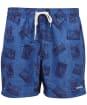 Men's Barbour Archive Print Swim Shorts - Chambray