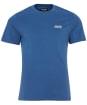 Men's Barbour International Small Logo Tee - NEW MID BLUE