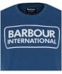Men's Barbour International Essential Large Logo Tee - Mid Blue