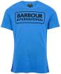 Men's Barbour International Essential Large Logo Tee - PURE BLUE