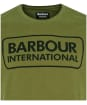Men's Barbour International Essential Large Logo Tee - Vintage Green