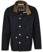 Men's Barbour Qube Waxed Jacket - Royal Navy