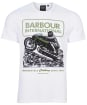 Men's Barbour International Archive Downforce Tee - White