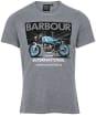 Men's Barbour International Greenwood Tee - Anthracite Marl