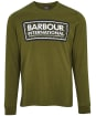 Men's Barbour International Grid Logo L/S Tee - Vintage Green
