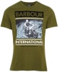 Men's Barbour International Archive Downforce Tee - Vintage Green