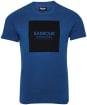 Men's Barbour International Block Tee - Mid Blue