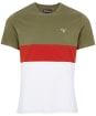 Men's Barbour Castle Panel Tee - Light Moss