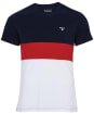 Men's Barbour Castle Panel Tee - Navy