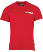 Men's Barbour Durness Pocket Tee - Chilli Red