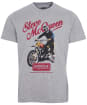 Men's Barbour International Steve McQueen Enduro Tee - Grey Marl