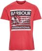 Men's Barbour International Steve McQueen Time Steve Tee - Sunbleached Red