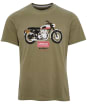 Men's Barbour International Steve McQueen Indiana Tee - Light Moss