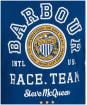 Men's Barbour International Steve McQueen Racer L/S Tee - Dark Petrol