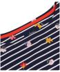 Women's Joules Harbour Print Top - Navy Stripe Floral
