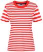 Women's GANT Striped T-Shirt - Lava Red