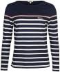 Women's Barbour Hawkins Top - Navy Stripe