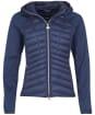 Women's Barbour International Carnaby Sweater Jacket - Metallic Blue