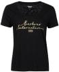 Women's Barbour International Hallstatt Tee - Black