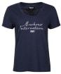 Women's Barbour International Hallstatt Tee - Metallic Blue