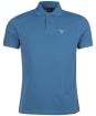 Men's Barbour Tartan Pique Polo Shirt - PIGMENT BLUE