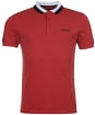 Men's Barbour International Ampere Polo - ROOT RED
