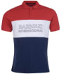 Men's Barbour International Bold Polo Shirt - ROOT RED