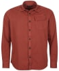 Men's Barbour International Garment Dyed Shirt - ROOT RED