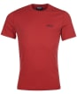 Men's Barbour International Small Logo Tee - ROOT RED