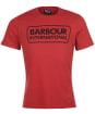 Men's Barbour International Essential Large Logo Tee - ROOT RED